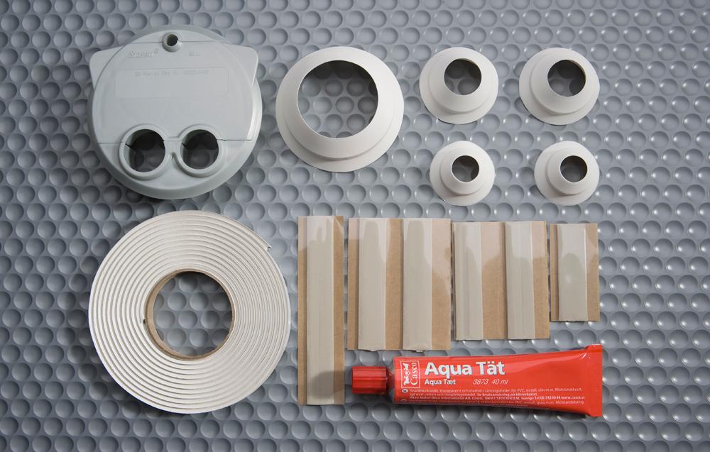 E.V.A diskbänksset - för diskmaskinens anslutningar i diskbänksskåp